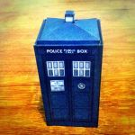 TV Comic papercraft tardis made by gfoyle