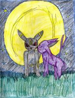 Umbreon x Espeon by YamakaiYoko