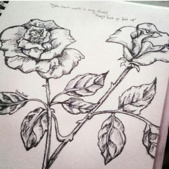 Inked Roses by XSlappyTheDummyX