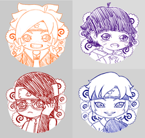 Boruto Stickers Preview by Momoroo