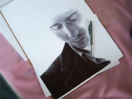 Tom Hiddleston Ballpoint Commission WIP 2 by Bubblegum-Jellybean