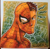 Spider-Man Post-it Note Sketch by GuanlinChen