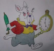 White Rabbit Disney drawing by chloesmith8
