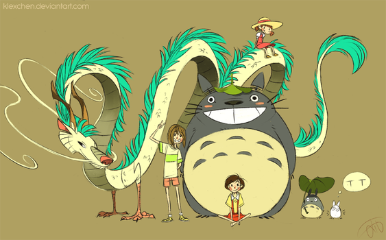 Ghibli Grouppic Part1 by Canvascope