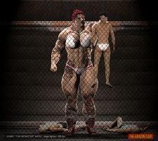Sabby Hayli - cage fighter - 8ft 2in - 03 by theamazonclub