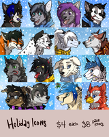 Christmas Icons Batch #2 by MidnightAlleyCat