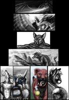 Speed Paint Collage by ScardyKat