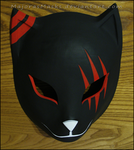 custom Itachi's ANBU mask (red version) by MajorasMasks