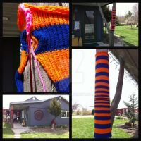 Yarn Bomb in Orange and Blue by CopperMoth