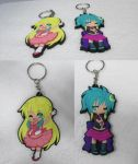 Project: Kami-Con S5 Keychains : Shio + Kosho by Giga-Beetle-Projs
