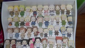 Hetalia papercrafts by ParkerM