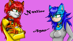Noxline And Angel by SuperSonic3
