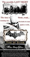 Batman: Arkham City - Time of Dying (Poster) by mickeyelric11