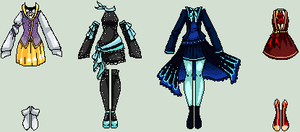 Adoptable Set #6 - Clothes  CLOSED by Amela-xD