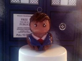 Doctor Who Charm - Tenth Doctor by PascalunaOriginals