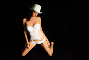 Kathryn - white hat 6 by wildplaces