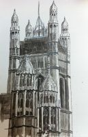 Ink Painting of the Houses of Parliament by SamSquared