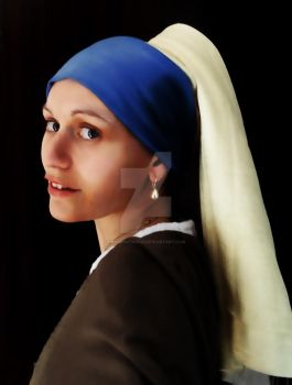 Girl with pearl earring by acrosstars22
