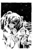 Doctor Who: Prisoners of Time #5 Variant Cover B/W by RobertHack