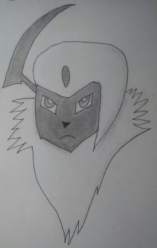 Absol Head Drawing by MarthTheBlackLegend