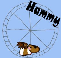 Hammy on the Hamster Wheel by CuteKittyStudios