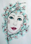 Lady in the Blossoms by BlackMagdalena