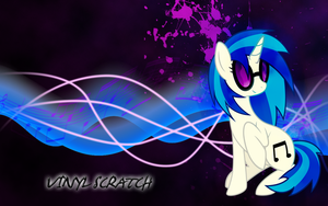 Vinyl Scratch Wallpaper by MapaFapa