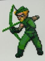 Perler Bead: Green Arrow by thewiredslain