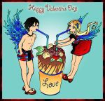 Happy Valentin's Day Angels by Kagami-Art