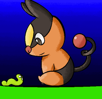 Tepig and the worm by lupie1324