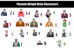 Phoenix Wright Pokemon sprites by ProsecutorBlue