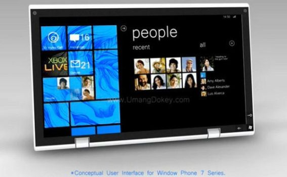 Microsoft's WP7 Tablet by standbyblizzard