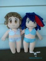 Kill La Kill Ryuko and Mako plush by dollphinwing
