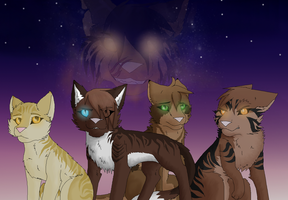 Tigerstar's family by J-Wolvie