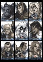Avengers The Movie Sketchcards 02 by Guy-Bigbelly