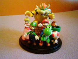 The Mario figurine set by shnoogums5060