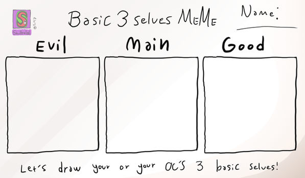 Basic 3 selves meme by MrCanisSkulltail