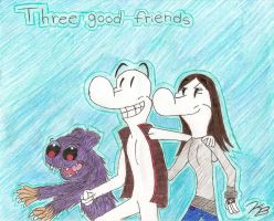 Smiley Bone,Bartleby and KyLee by Gangster-dog
