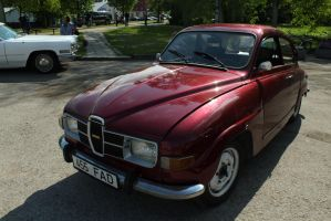 Stock - red Saab 96 by triinustock