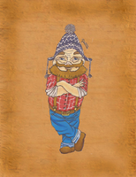 Gnome with an ugly cap by Randomous
