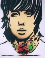 Oliver Sykes by MerizzArt