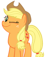 Applejack wink - Vector. by xMayii