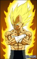 Vegeta ssj by DBZwarrior