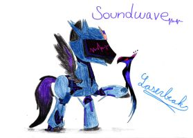 Soundwave from Transformers: Prime as a pony by SpeedFeather