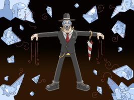 Umbrella Man Mythos Machine: Puppets and Glass by bluefluke