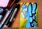 Marker Card Commission - Socrates by reaperfox