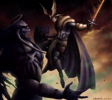 Crusader vs DarkLord by Serathus