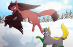 Fun in the snow by BeCarefulPaint