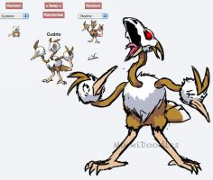 Pokemon Fusion - Cudrio by MinkiDoodles