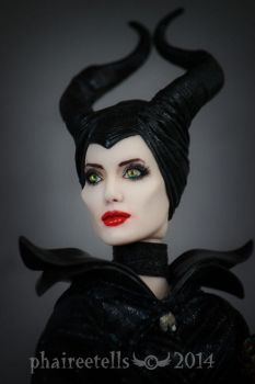 Maleficent custom repaint portrait by phairee004